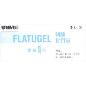 偉達制酸化胃氣雙層胃片 FLATUGEL TAB
